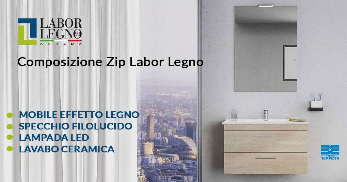 Zip Laborlegno Treemme Tempesta Roma mobili da bagno